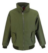 Mens Olive Green Retro Mod Classic Harrington Jacket