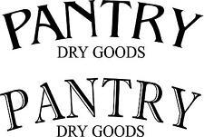 Pantry dry goods- vinyl door/ wall decal