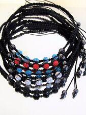 Damen Collier Halskette Glücksbringer Kette Kristall Kugeln in 5 Farben Hämatit