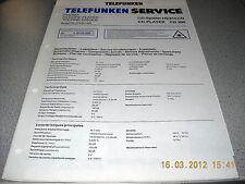 TELEFUNKEN CD Spieler HS810CD CD300 Service Manual inkl. 2 Service Tips