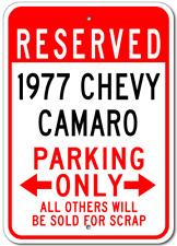 1977 77 CHEVY CAMARO Parking Sign
