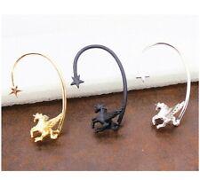 3D Flying Horse Pegasus Wing Unicorn Star Ear Cuff Stud Wrap Earring Kawaii
