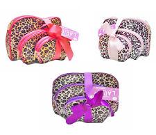 Set of 3 Animal Print Cosmetic Bags