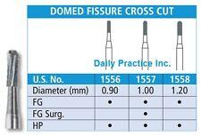 Johnson-Promident Carbide Burs DOMED FISSURE CROSS CUT FG HP All Sizes Box/100