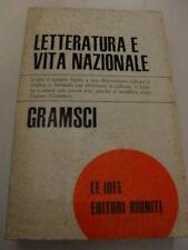 GRAMSCI LETTERATURE E VITA NAZIONALE ED. RIUNITI