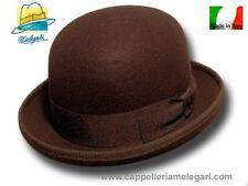 Melegari Cappello a Bombetta in feltro di lana marrone