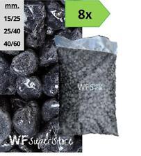 Ciottoli di marmo Nero Ebano - 8 sacchi da 25 kg - sassi neri pietre giardino