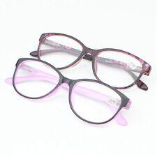 New female style oval frame reading glasses spring hinge Full frame PC retro