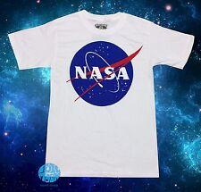New NASA Space Logo Vintage Classic Mens White Retro T-shirt