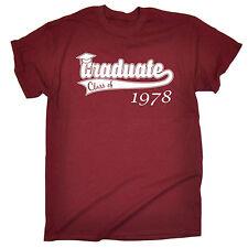 Clase de posgrado de cualquier año Para hombres Camiseta Camiseta Regalo De Cumpleaños Personalizado de estudiante