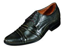 Abis Herren Leder Business Schuhe Schnürschuhe braun 550094 Gr.40-45