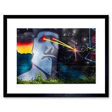 Graffiti Easter Island Head Laser Art Print Framed Poster Wall Decor