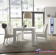 Aladin Tavolo da Pranzo Allungabile 137x90 Gambe in Legno Bianco Opaco