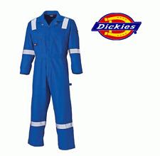 Dickies Cotton Coverall Reflective Hi Viz Boiler Suit Royal Blue 3XL 4XL WD2279