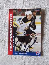 Boston Bruins Joe Colborne Signed 10/11 AHL Top Prospects Providence Card Auto