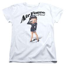 Betty Boop Cartoon Air Force Boop Women's T-Shirt Tee