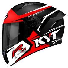 Casco integrale moto KYT NFR Track nero rosso helmet