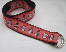 Childrens belt christmas hoho handmade adjustable kids d ring velcro santa