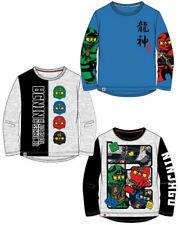 Lego Ninjago Jungen Langarmshirt T-Shirt Langarm coole Motive blau hellgrau schw