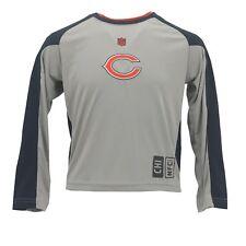 Chicago Bears Youth Kids Size NFL Dri Tek NFL Athletic Long Sleeve Shirt New