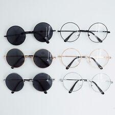 Vintage Sunglasses Round Clear Tea Lens Glasses Frame Retro Shades Golden Frame