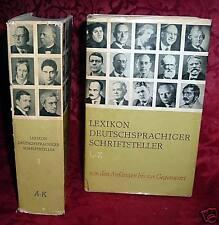 Lexikon deutschsprachiger Schriftsteller,2Bd.,1967/1968