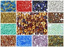 CHOOSE COLOR! 5g (155-170pcs) 1x4mm O bead® Czech Pressed Glass
