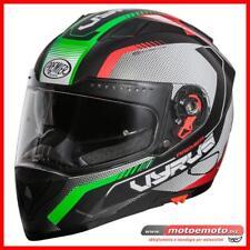 Casco moto Integrale Premier Vyrus MP IT Tricolore Italia Verde Rosso Opaco