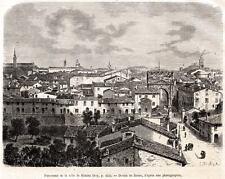 RIMINI: Panorama. Capolavoro. Ariminum. Emilia-Romagna. Stampa Antica. 1877