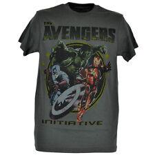Marvel The Avengers Initiative Tshirt Hulk Iron Man Captain America Tee