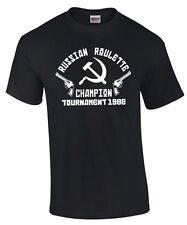RUSSIAN ROULETTE CHAMPION Russen Mafia kgb russisch russia FUN T-SHIRT