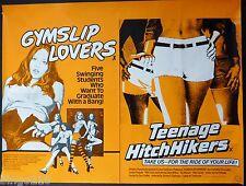 GYMSLIP LOVERS / TEENAGE HITCHHIKERS QUAD POSTER REBECCA BROOKE SANDRA PEABODY