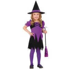 Mädchen Zauberin Kostüm Hexe Kinderkostüm Hexchen Magierin Hexenkostüm Kleid Hut
