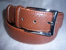 Italy Style Brand Men's Genuine Leather Medium Brown Belt Size  L / XL NEW