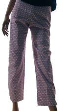 Madison Hill Womens Red Purple Cream Floral Crop Capri Pants 4 8 12 14 16 NEW