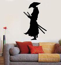 Vinyl Wall Decal Japanese Warrior Samurai Katana Swords Stickers (1606ig)