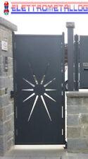 cancello pedonale in ferro zincato verniciato a scelta serie SOLE