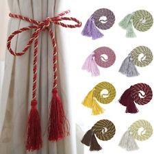 2PCS Curtain Tiebacks Hanging Curtain Straps Tie Backs Tassel Drape Holdbacks