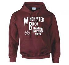 "Sobrenatural ""Winchester Bros Caza mal desde 1983"" Con Capucha Nuevo"