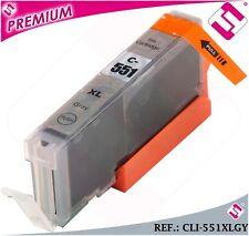 TINTA CLI551GY CLI 551 XL GRIS CARTUCHO GRISACEO NOOEM COMPATIBLE NO ORIGINAL