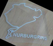 Adesivo Nurburgring con nome circuito (colore cromo) sticker decal