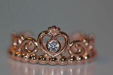 AUTHENTIC NEW PANDORA ROSE™ MY PRINCESS RING 180880cz *CHOOSE SIZE* HINGED BOX