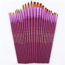 12Pcs Art Painting Brushes Set Acrylic Oil Watercolor Artist Paint Brush Set Kit