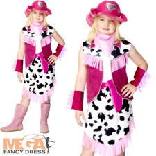 Rodeo Niñas Vestido de fantasía Vaquera Salvaje Oeste Western Niños Childrens Traje de Disfraz
