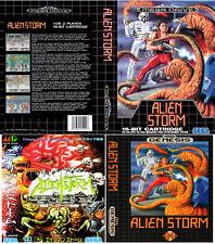 ALIEN STORM PAL NTSC NTSC-J Sega Megadrive RICAMBIO box-art CASE inserisci Repro