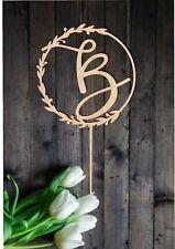 Cake Topper Initial Wedding Cake Topper Letter B Custom Personalised Monogram