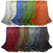 New Boho Hippie Crochet Waist Long Cotton Wrap Skirt NG4X