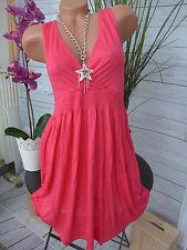 Beach Time süßes Kleid Strandkleid Koralle 34 - 44 NEU (005)