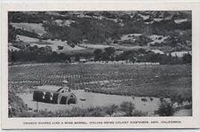 ITALIAN SWISS COLONY WINE BARREL CHURCH~ASTI,CALIFORNIA POSTCARD