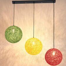 Round Woven Rattan Vine Ball Pendant Lampshade Ceiling Light Lamp Cover Decor